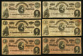 Confederate Notes:1864 Issues, T65 $100 1864 Fourteen Examples.. ... (Total: 14 notes)