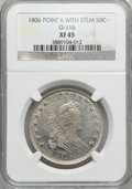 Early Half Dollars, 1806 50C Pointed 6, Stem, O-116, R.3, XF45 NGC....