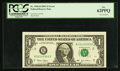 Error Notes:Inverted Reverses, Fr. 1928-B $1 2003 Federal Reserve Note. PCGS New 62PPQ.. ...