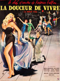 "Movie Posters:Foreign, La Dolce Vita (Consortium Pathé, 1959). Full-Bleed French Grande(46"" X 62.25"").. ..."