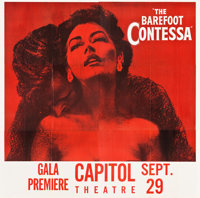 "The Barefoot Contessa (United Artists, 1954). Premiere Six Sheet (80"" X 80.5"")"