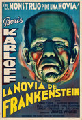 "Movie Posters:Horror, The Bride of Frankenstein (Universal, 1935). Argentinean Poster(29.5"" X 43.5"").. ..."