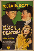 "Movie Posters:Mystery, Black Dragons (Monogram, 1942). One Sheet (27"" X 41""). Mystery....."