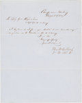 Autographs:Military Figures, [Mexican War]. Benjamin McCulloch Letter Signed with James Buchanan Autograph Endorsement Signed...