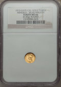 Expositions and Fairs, 1915 Round Minerva, Bear, 1/2 California Gold, MS66 NGC....