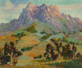 Fine Art - Painting, American:Modern  (1900 1949)  , GEORGE DEMONT OTIS (American, 1879-1962). Rolling MountainValley. Oil on canvas. 30 x 36 inches (76.2 x 91.4 cm).Signe...