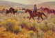 JIM C. NORTON (American, b. 1953) Rabbit Brush and Wild Ponies, 1993 Oil on canvas 22 x 32 inches (55.9 x 81.3 cm) S