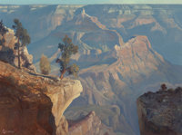 RALPH LOVE (American, 1907-1992) Canyon Morning from Yavapai Point, 1984 Oil on canvas 30 x 40 in