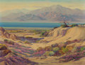 Fine Art - Painting, American:Modern  (1900 1949)  , FRED GRAYSON SAYRE (American, 1879-1939). Salton Sea . Oilon canvas. 28 x 36-1/4 inches (71.1 x 92.1 cm). Signed lower ...