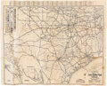 Autographs:Celebrities, Charles Siringo Signed Map, circa 1924....