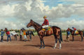 "Fine Art - Painting, American:Contemporary   (1950 to present)  , RICHARD STONE REEVES (American, 1919-2005). Calumet Farm'sBarbizon, Winner of ""The Garden State,"" October 27, 1956,195..."