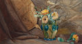 Fine Art - Work on Paper:Watercolor, JOHN HABERLE (American, 1856-1933). The Art Glass Vase. Watercolor on paper laid on board. 12-7/8 x 21 inches (32.7 x 53...