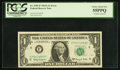 Error Notes:Doubled Third Printing, Fr. 1901-F $1 1963A Federal Reserve Note. PCGS Choice About New55PPQ.. ...