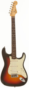 Musical Instruments:Electric Guitars, 1961 Fender Stratocaster Sunburst Solid Body Electric Guitar,Serial # 72431....
