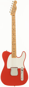 Musical Instruments:Electric Guitars, 1999 Fender Custom Shop Esquire Fiesta Red Solid Body Electric Guitar, Serial # CN94883....