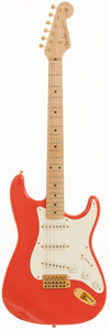Musical Instruments:Electric Guitars, 1997 Fender Custom Shop Stratocaster Fiesta Red Solid Body ElectricGuitar, Serial # CN701800....