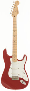 Musical Instruments:Electric Guitars, 1994 Fender Eric Clapton Signature Edition Stratocaster Red SolidBody Electric Guitar, Serial # SE916894....