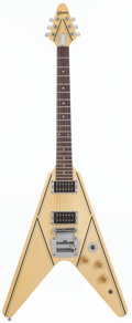 Musical Instruments:Electric Guitars, 1984 Gibson Designer Series Flying V White Solid Body Electric Guitar, Serial # 80874554....