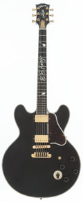 Musical Instruments:Electric Guitars, 2011 Gibson B.B. King Lucille Black Semi-Hollow Body ElectricGuitar, Serial # 10551385....
