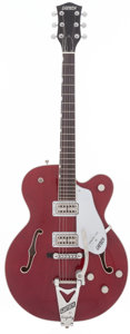 Musical Instruments:Electric Guitars, 1999 Gretsch Tennessee Rose Burgundy Semi-Hollow Body ElectricGuitar, Serial # 997119-2487....