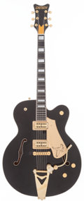 Musical Instruments:Electric Guitars, 2001 Gretsch Black Falcon Black Semi-Hollow Body Electric Guitar, Serial # 019593-446....
