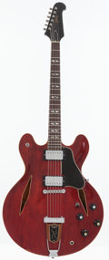 Musical Instruments:Electric Guitars, 1967 Gibson Trini Lopez Cherry Semi-Hollow Body Electric Guitar,Serial # 510740....