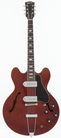 Musical Instruments:Electric Guitars, 1967 Gibson ES-330 Sparkling Burgundy Metallic Semi-Hollow BodyElectric Guitar, Serial # 090521....