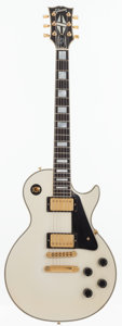 Musical Instruments:Electric Guitars, 1990 Gibson Les Paul Custom White Solid Body Electric Guitar,Serial # 91420437....