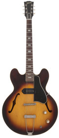 Musical Instruments:Electric Guitars, 1963 Gibson ES-330 Sunburst Semi-Hollow Body Electric Guitar,Serial # 99203....