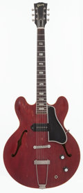 Musical Instruments:Electric Guitars, 1962 Gibson ES-330 Cherry Semi-Hollow Body Electric Guitar, Serial# 84222....
