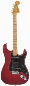 Musical Instruments:Electric Guitars, 1980 Fender Stratocaster Trans Red Solid Body Electric Guitar,Serial # S963713....