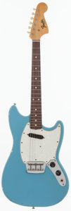 Musical Instruments:Electric Guitars, 1966 Fender Musicmaster II Blue Solid Body Electric Guitar, Serial# 142727....
