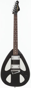 Musical Instruments:Electric Guitars, Circa 1999 American Showster The Peace Black Solid Body ElectricGuitar, Serial # N00018....