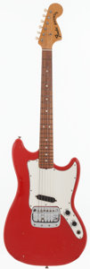 Musical Instruments:Electric Guitars, 1969 Fender Bronco Red Solid Body Electric Guitar, Serial #227265....