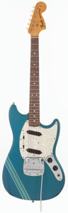 Musical Instruments:Electric Guitars, 1973 Fender Mustang Competition Blue Solid Body Electric Guitar,Serial # 375657....