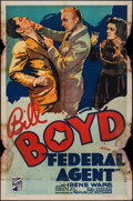 "Movie Posters:Crime, Federal Agent (Republic, 1936). One Sheet (27"" X 41""). Crime.. ..."