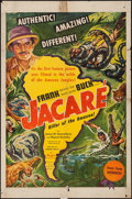 """Movie Posters:Documentary, Jacaré, Killer of the Amazon (United Artists, 1942). One Sheet (27"""" X 41""""). Documentary.. ..."""