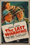 "Movie Posters:Mystery, The Last Warning (Universal, 1938). One Sheet (27"" X 41"").Mystery.. ..."