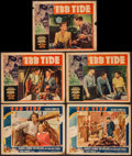"Movie Posters:Adventure, Ebb Tide (Paramount, 1937). Lobby Cards (5) (11"" X 14"").Adventure.. ... (Total: 5 Items)"