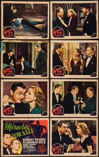 "Miracles for Sale (MGM, 1939). Lobby Card Set of 8 (11"" X 14""). Mystery. ... (Total: 8 Items)"