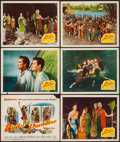 "Movie Posters:Adventure, Bird of Paradise (20th Century Fox, 1951). Title Lobby Card &Lobby Cards (5) (11"" X 14""). Adventure.. ... (Total: 6 Items)"