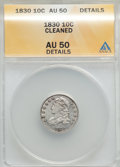 Bust Dimes: , 1830 10C Medium 10C -- Cleaned -- ANACS. AU50 Details. NGC Census: (6/152). PCGS Population (10/145). Mintage: 510,000. Num...