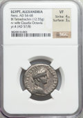 Ancients:Roman Provincial , Ancients: Nero (AD 54-68). BIL tetradrachm (12.55 gm)....
