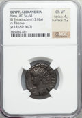 Ancients:Roman Provincial , Ancients: Nero (AD 54-68). BIL tetradrachm (13.02 gm)....
