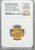 Ancients:Byzantine, Ancients: Heraclius (AD 610-641). AV solidus (4.37 gm)....