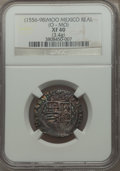 Mexico, Mexico: Philip II Cob 1 Real ND (1556-98) Mo-O XF40 NGC,...