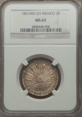 Mexico, Mexico: Republic 2 Reales 1861 Mo-CH MS65 NGC,...