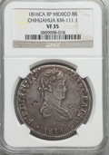Mexico, Mexico: Chihuahua. Ferdinand VII Counterstamped 8 Reales 1816 Ca-RPVF35 NGC,...