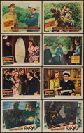 "Movie Posters:War, Destination Tokyo & Others Lot (Warner Brothers, 1943). LobbyCards (8) (11"" X 14""). War.. ... (Total: 8 Items)"