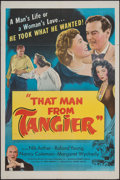 "Movie Posters:Adventure, That Man from Tangier (United Artists, 1953). One Sheet (27"" X41""). Adventure.. ..."